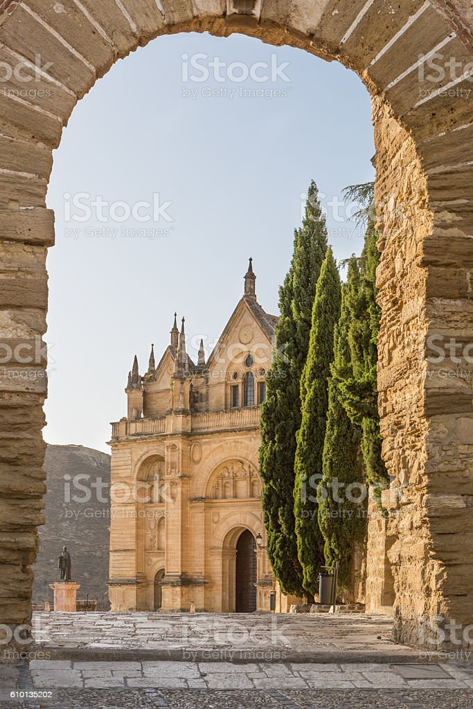 Antequera in Andalusia, Spain. Santa Maria la Mayor stock photo