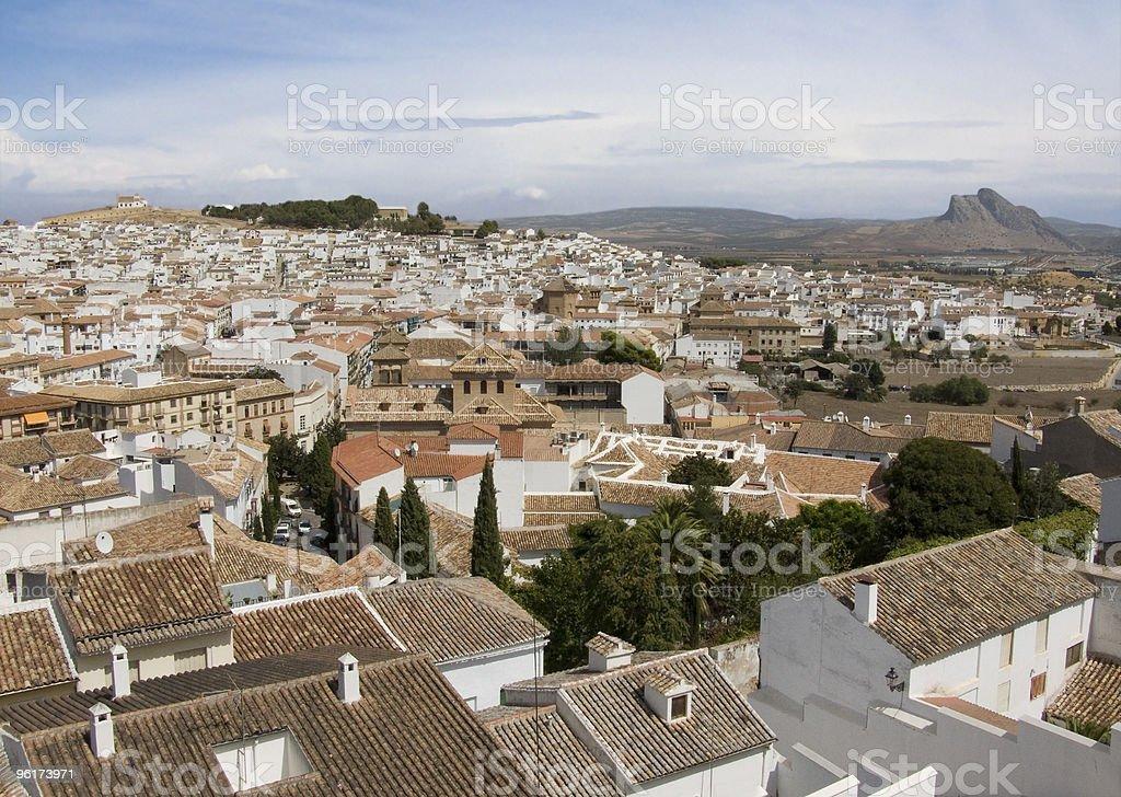 Antequera-malerischen weißen spanischen Stadt Lizenzfreies stock-foto