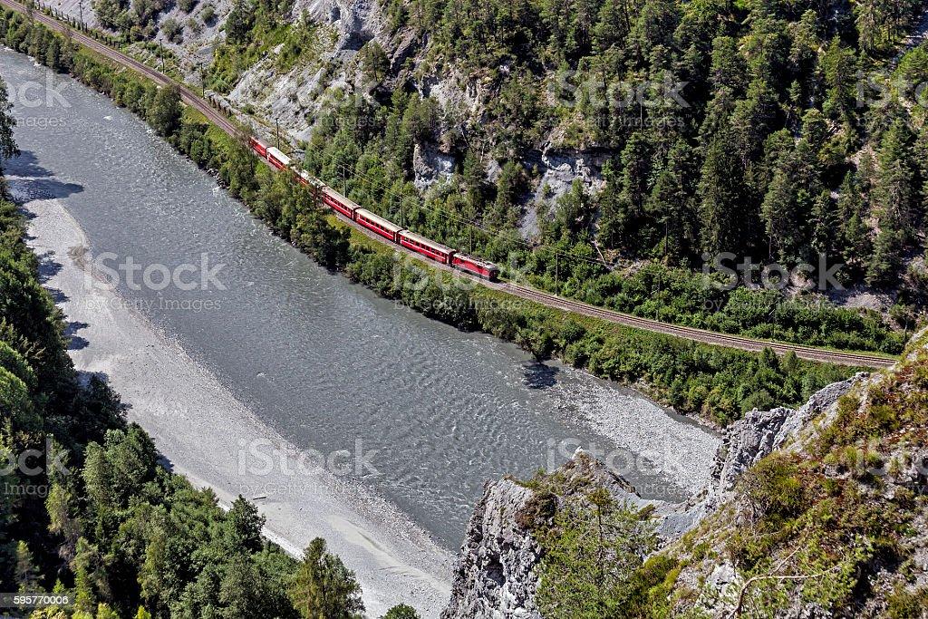 Anterior Rhine - Vorderrhein stock photo