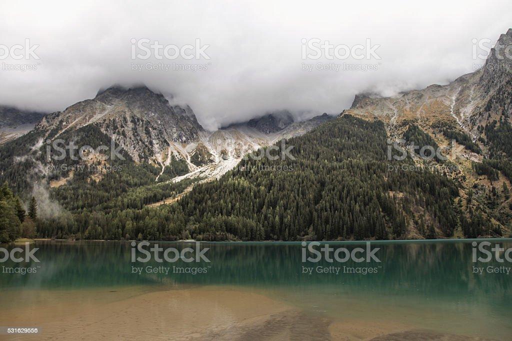 Antholzer See, Suedtirol stock photo