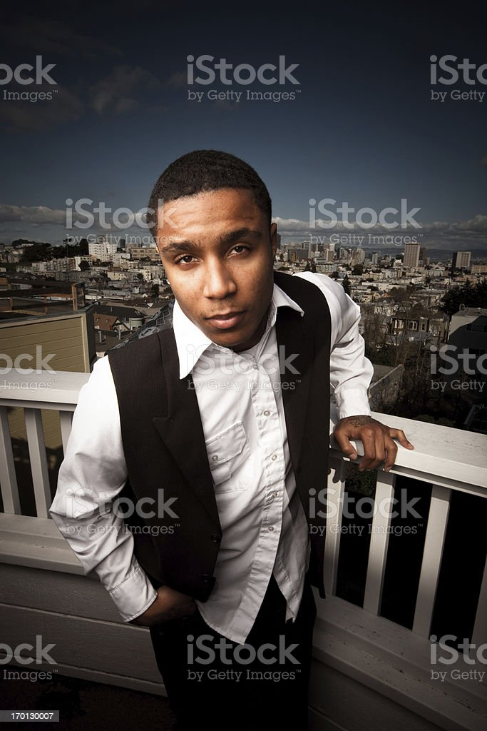 Anthony on the Roof Deck royalty-free stock photo