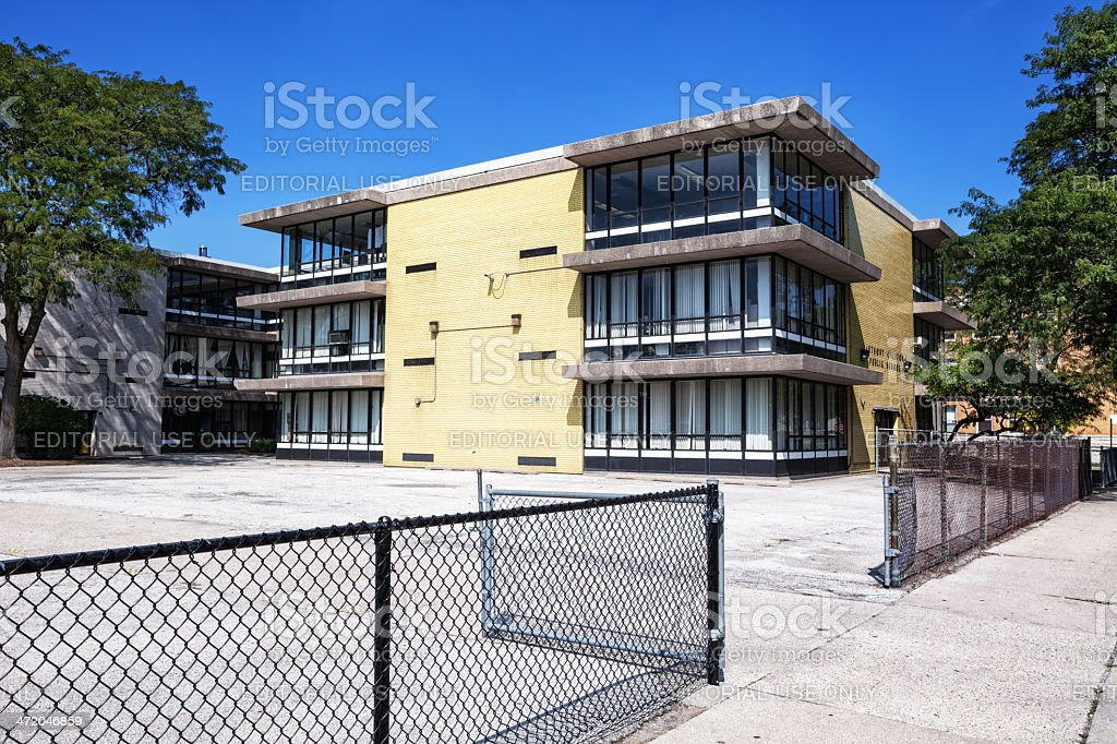 Anthony Overton Elementary School, Chicago stock photo