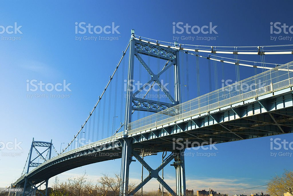 Anthony Wayne Bridge in Toledo, OH stock photo