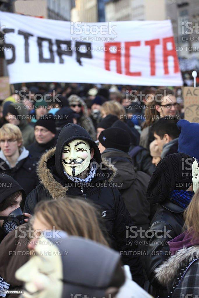 Anti Acta Demonstration royalty-free stock photo