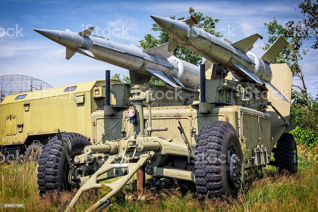 Anti aircraft missiles S-125 Newa stock photo