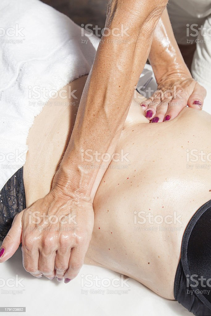 Anti cellulite massage stock photo