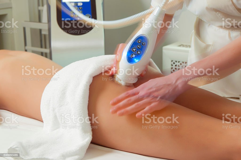 Anti cellulite treatment stock photo