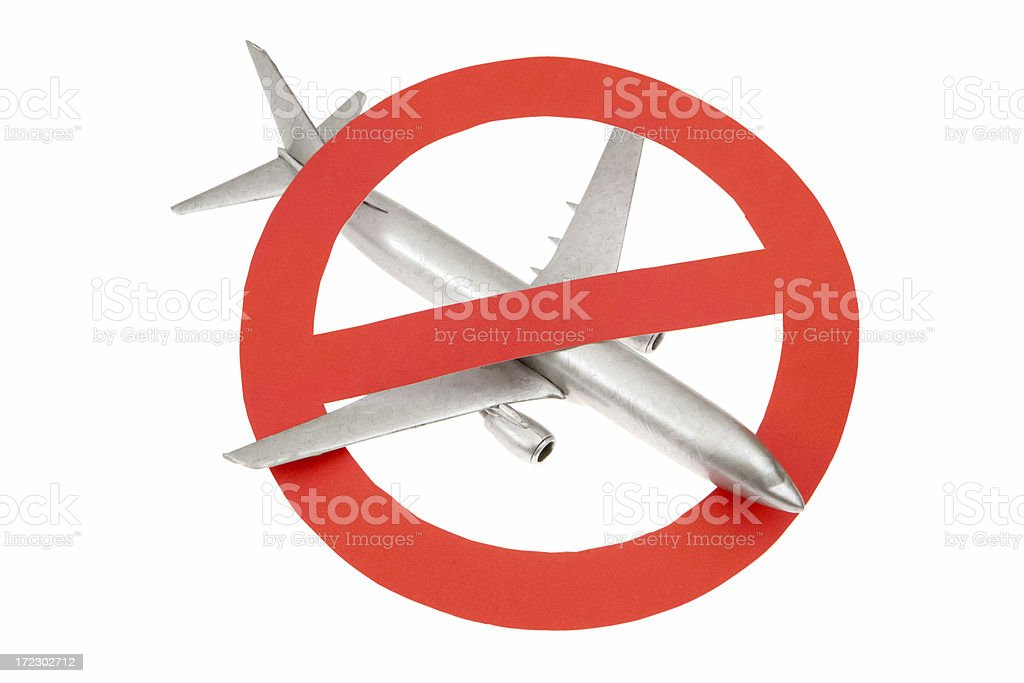 Anti Flying royalty-free stock photo
