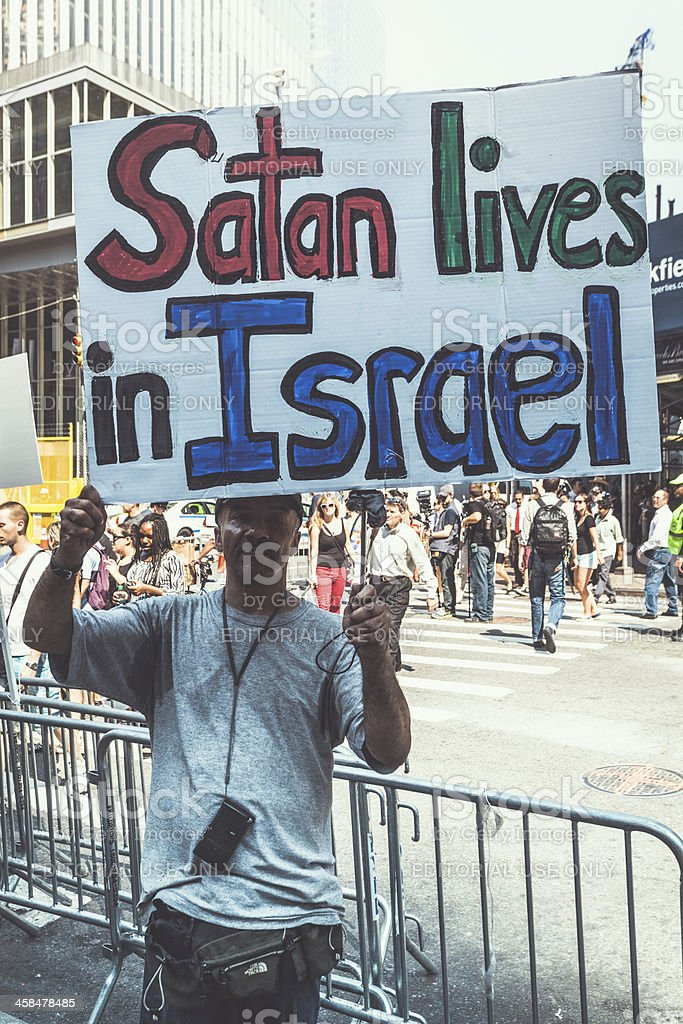 Anti Israel Protester in New York City stock photo