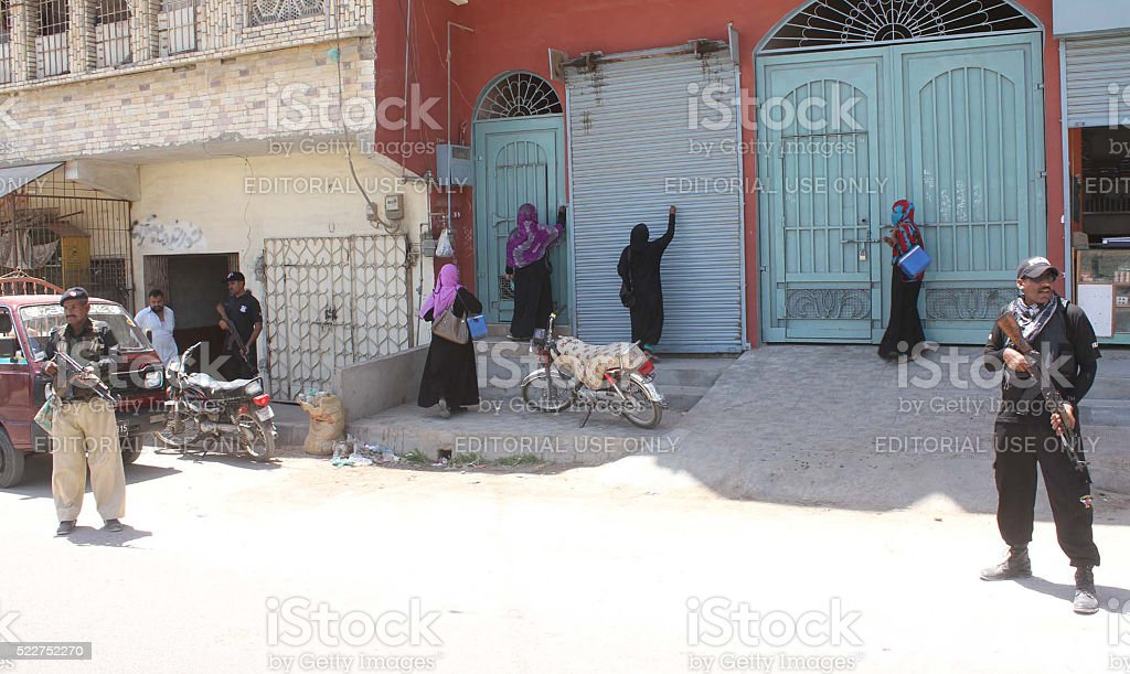 Anti polio drive is underway in tight security stock photo