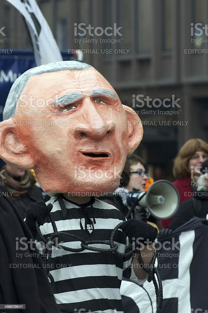 Anti Protest March royalty-free stock photo