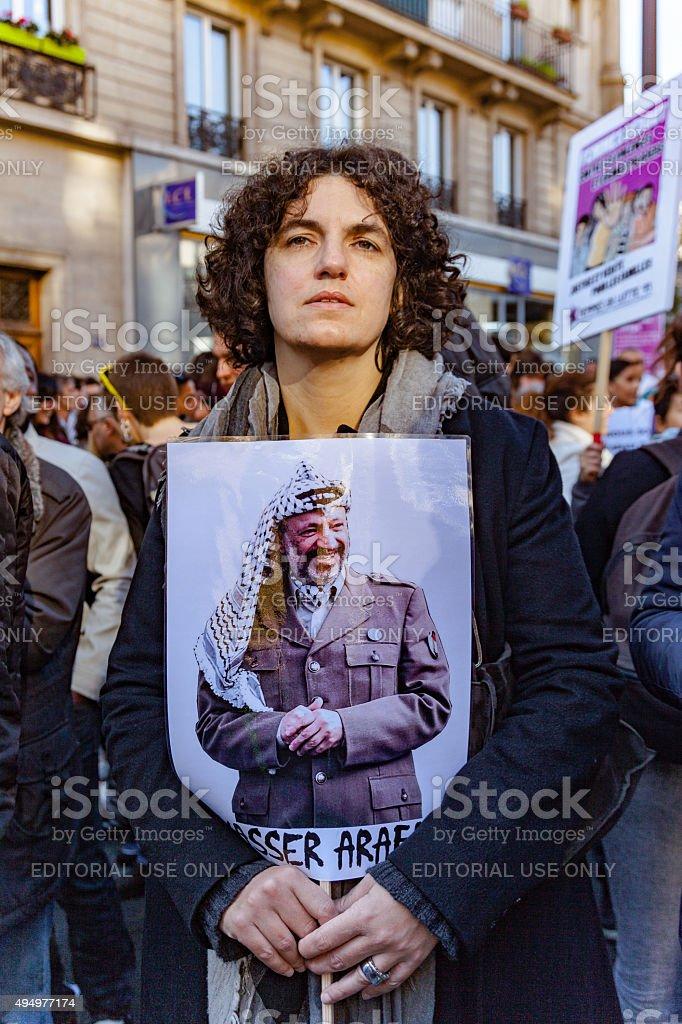 Anti racism event in Paris stock photo