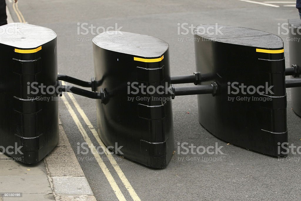Anti terrorist security barrier, Houses of Parliament, London, U.K. royalty-free stock photo