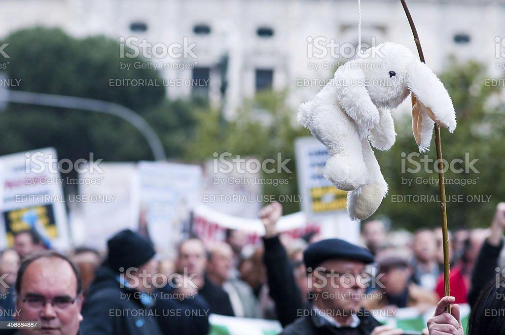 anti troika protest royalty-free stock photo