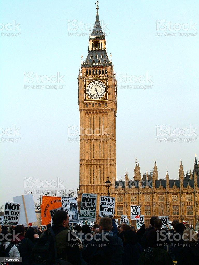 Anti war protest 01 royalty-free stock photo