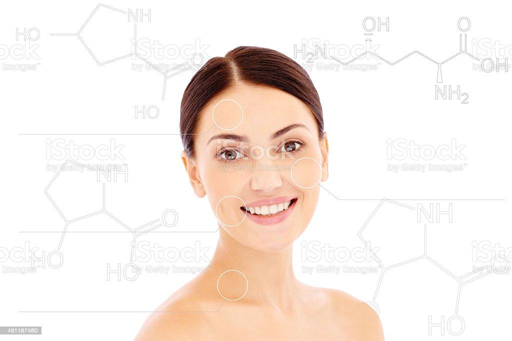Anti-aging treatment stock photo