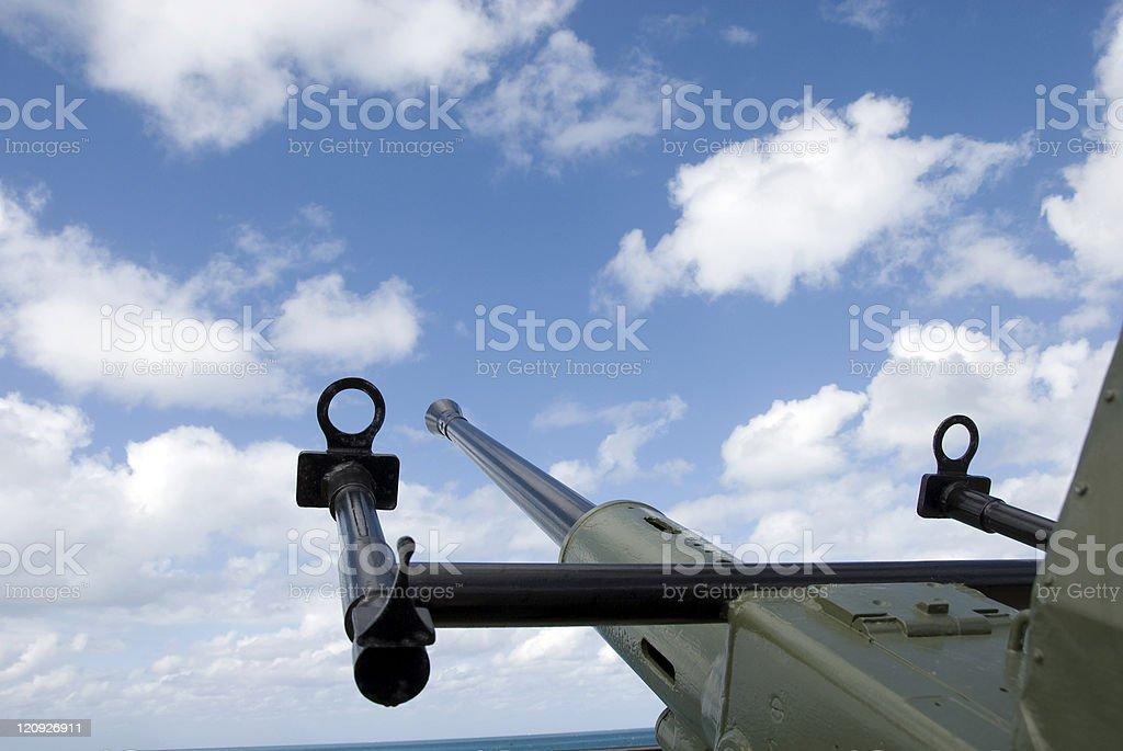 Antiaircraft Gun Sights stock photo