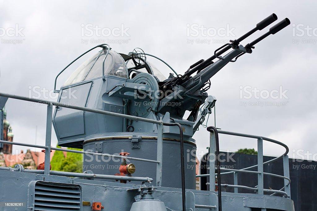 Anti-aircraft guns royalty-free stock photo