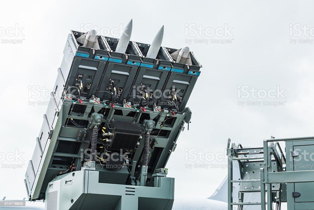 Anti-aircraft missiles stock photo