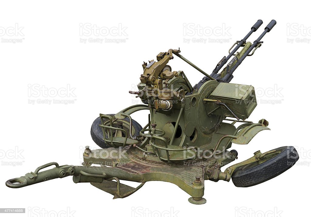Anti-aircraft mount royalty-free stock photo