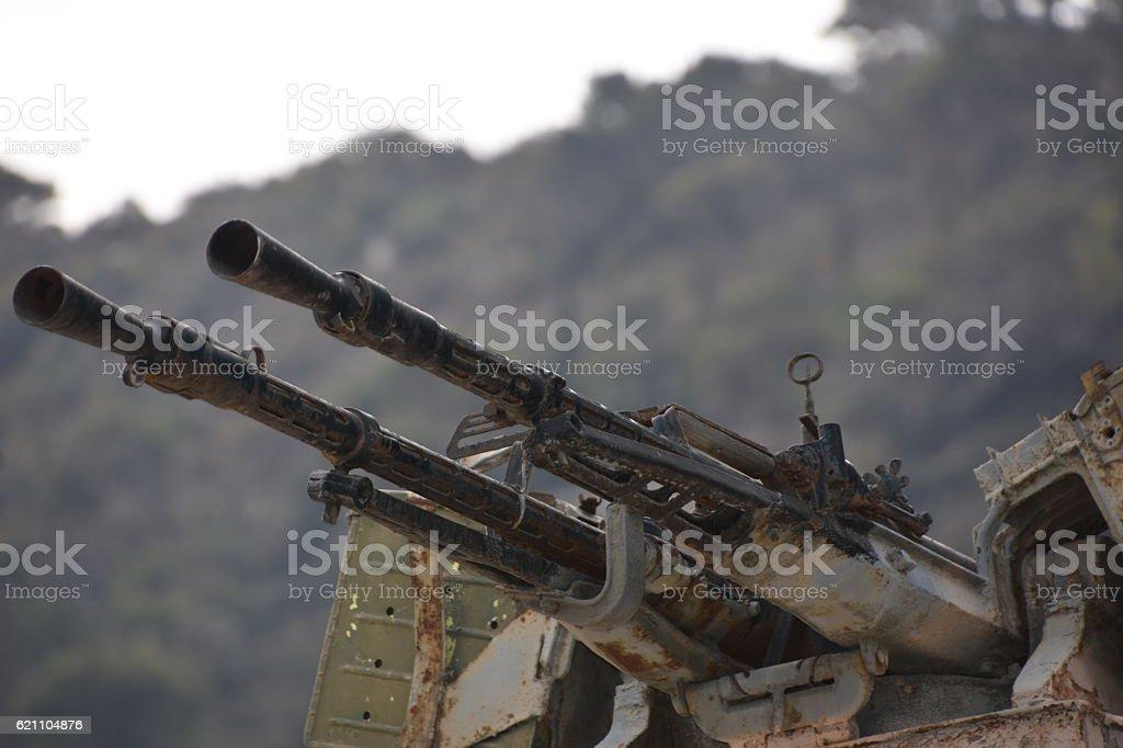 Anti-aircraft warfare stock photo