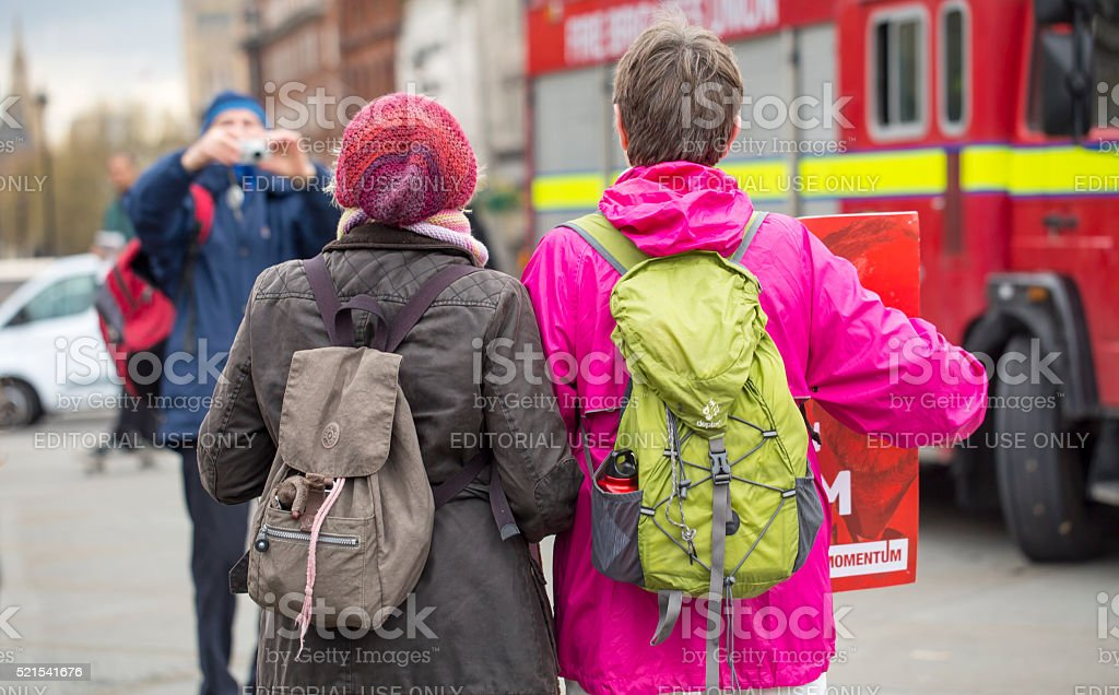 Anti-Austerity March. stock photo