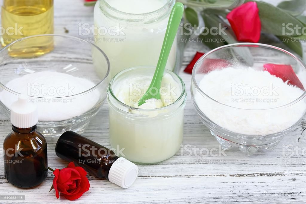 Antibacterial  and natural homemade deodorant stock photo