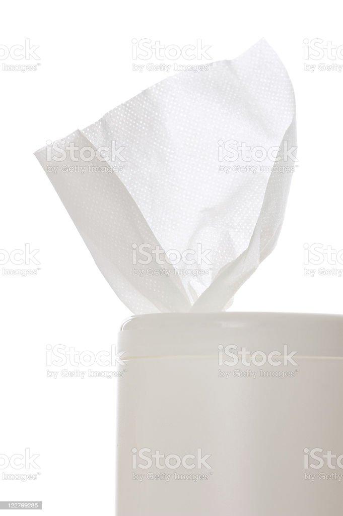 Antibacterial Wipe stock photo