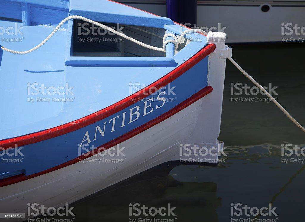 Antibes Fishing Boat stock photo