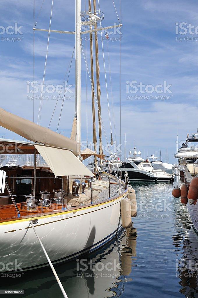 Antibes marina royalty-free stock photo