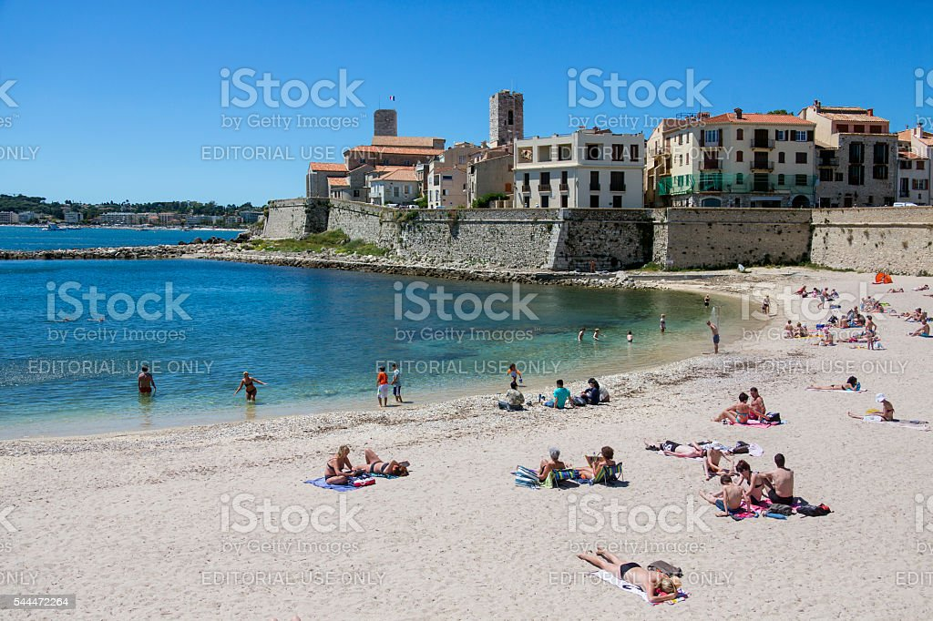 Antibes - South of France stock photo