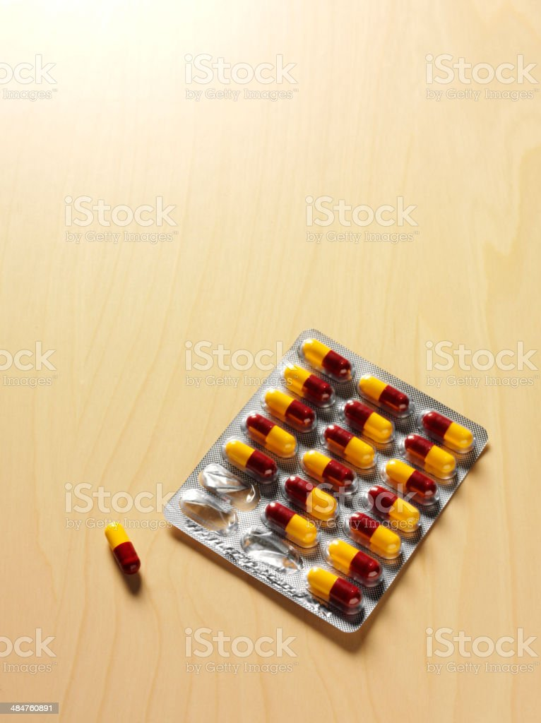 Antibiotic Medical Tablets in a Packet royalty-free stock photo