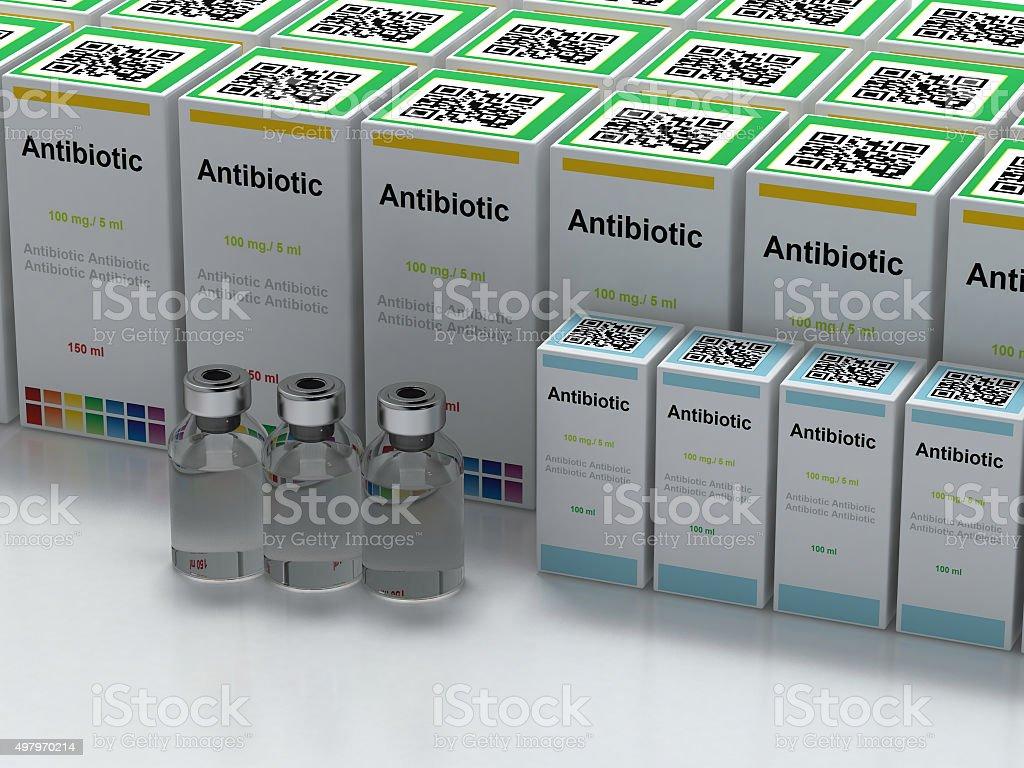 Antibiotic stock photo
