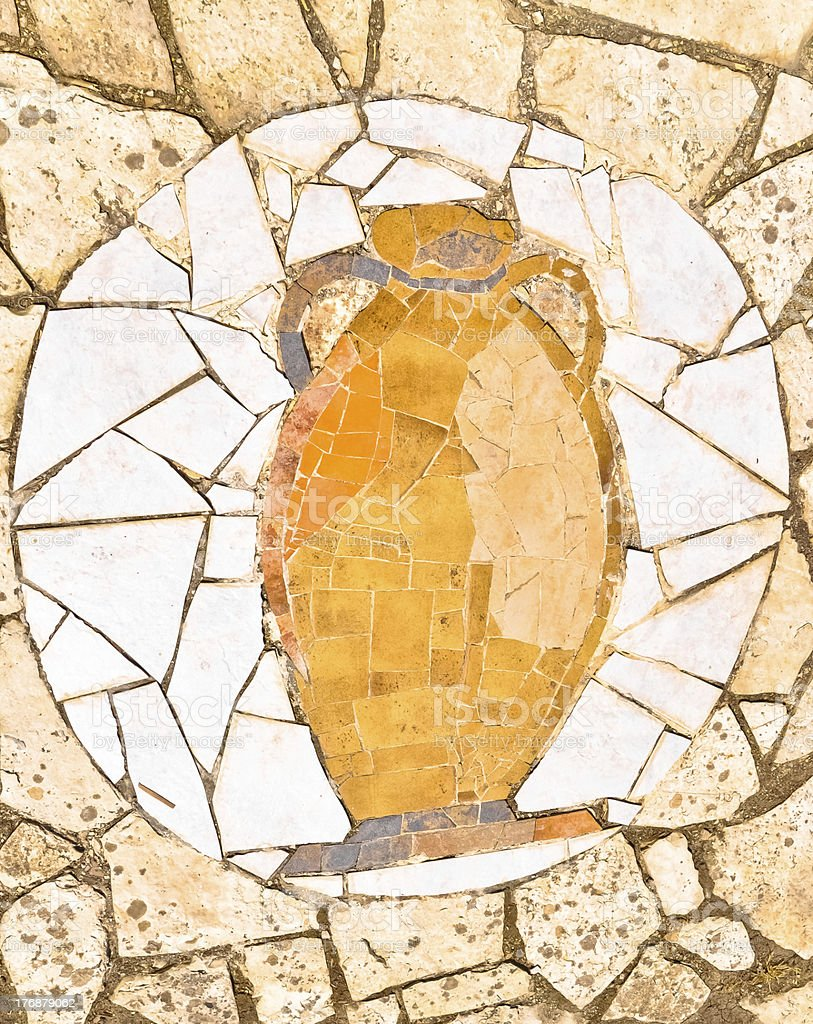 Antic Amphore Mosaik Lizenzfreies stock-foto