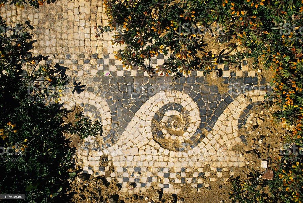 antica pavimentazione a mosaico royalty-free stock photo