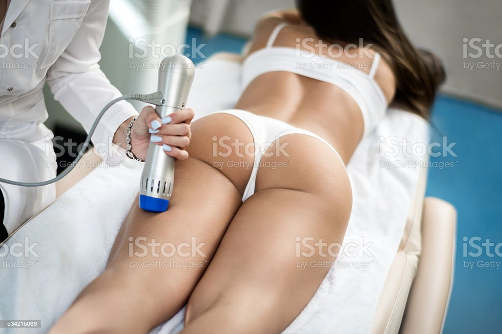 Anticellulite treatment stock photo
