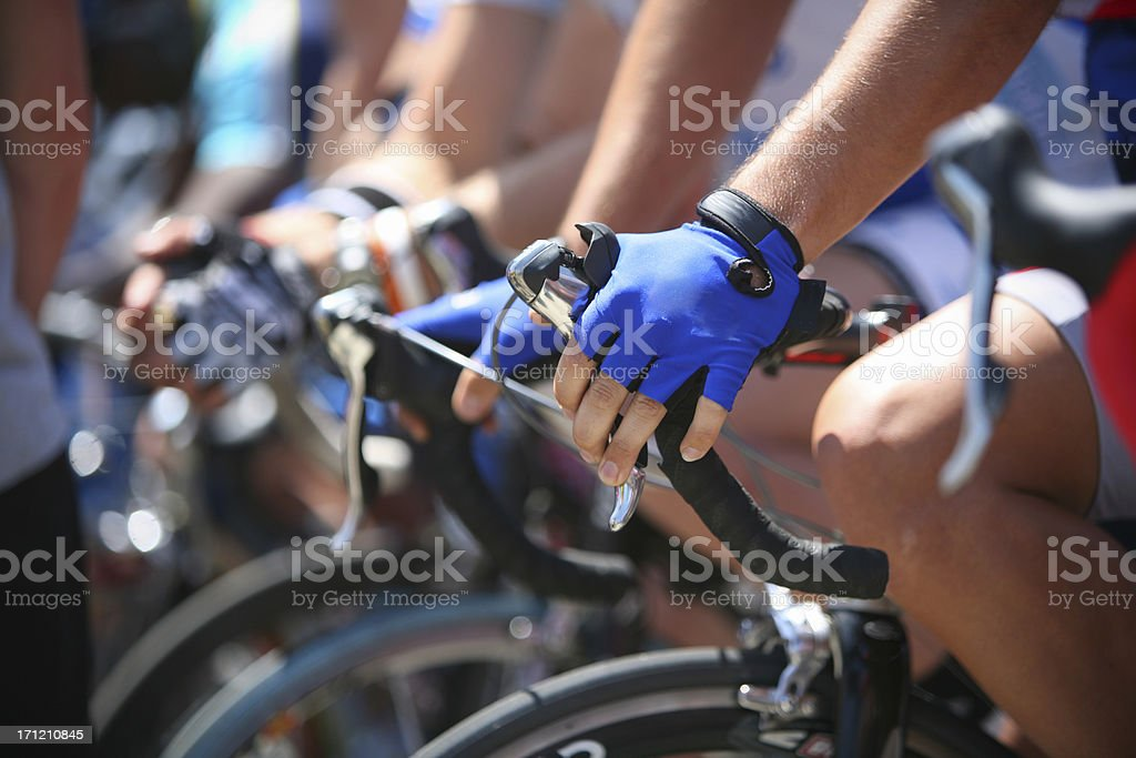 anticipation at the starting line royalty-free stock photo