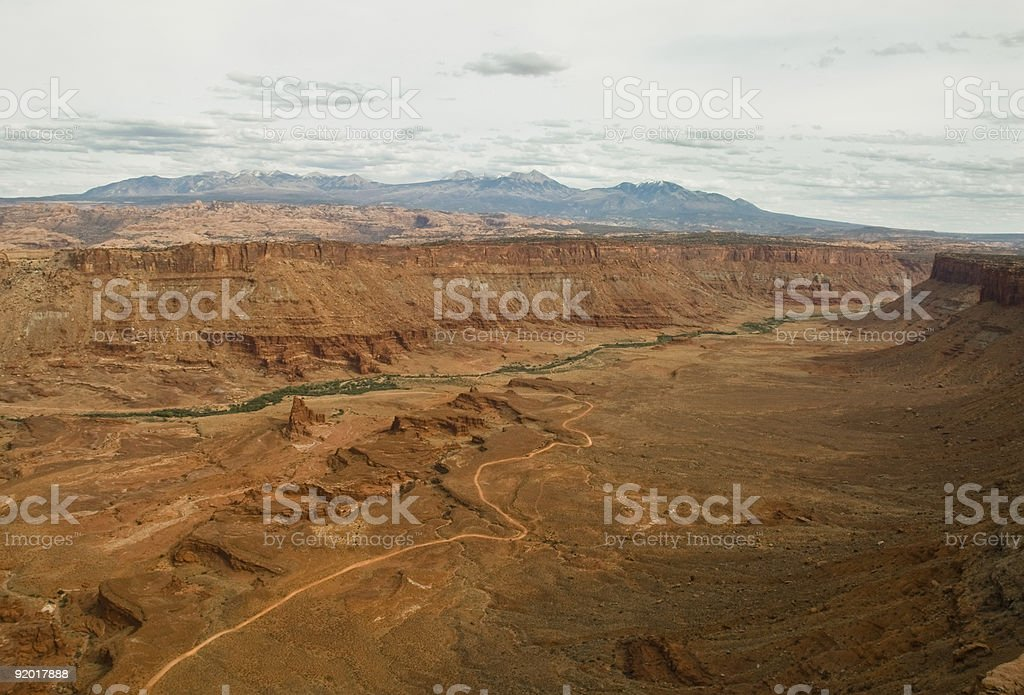 Anticline Overlook, Canyon lands Park, Utah stock photo