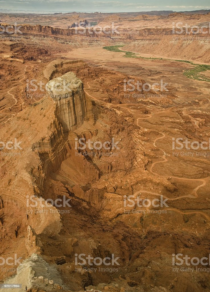 Anticline Overlook Utah, Canyon Lands Park stock photo