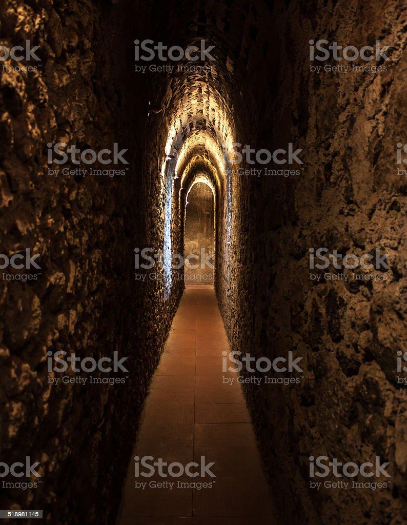 Antico corridoio stock photo