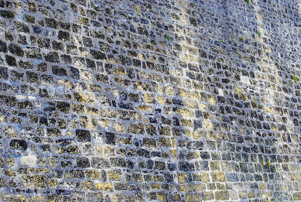 antient stone wall royalty-free stock photo