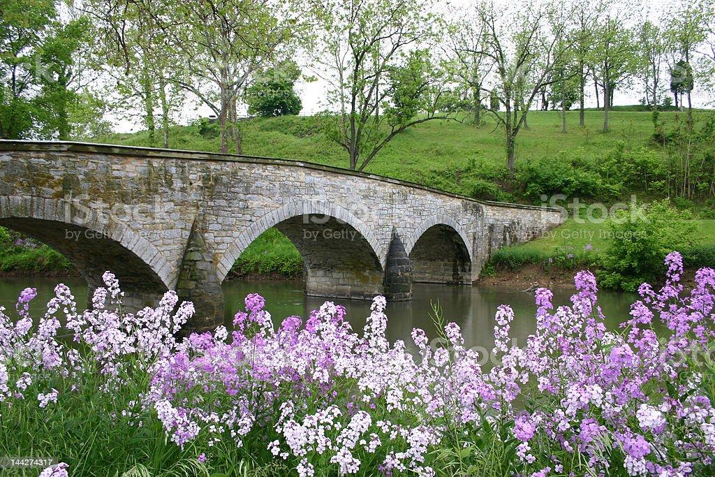 Antietam Bridge royalty-free stock photo
