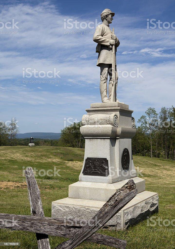 Antietam National Battlefield in Maryland royalty-free stock photo