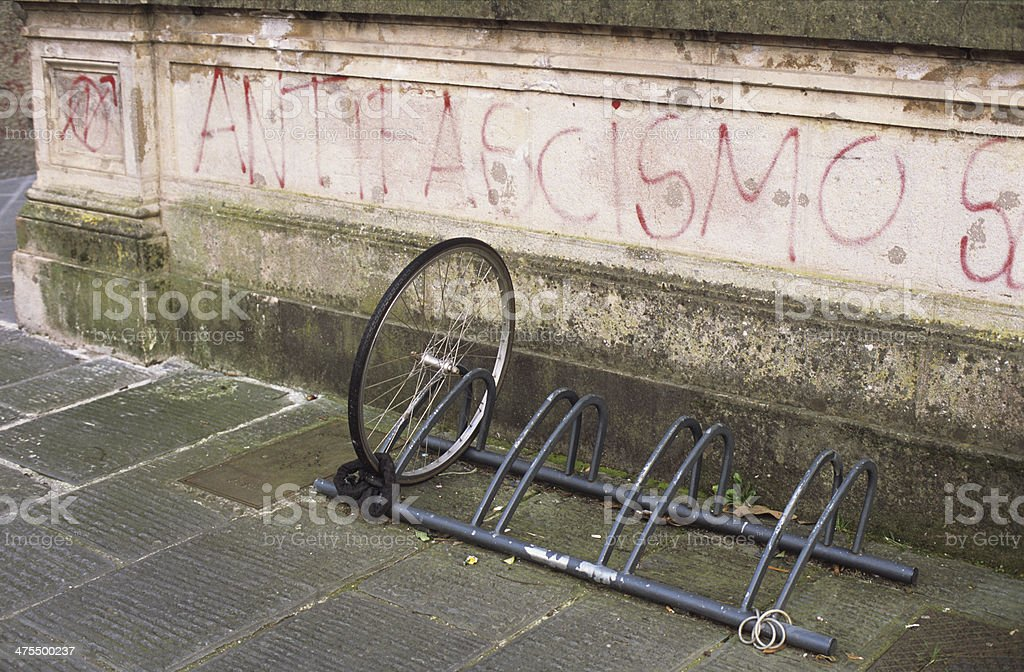 Antifascismo - Antifascism and theft stock photo