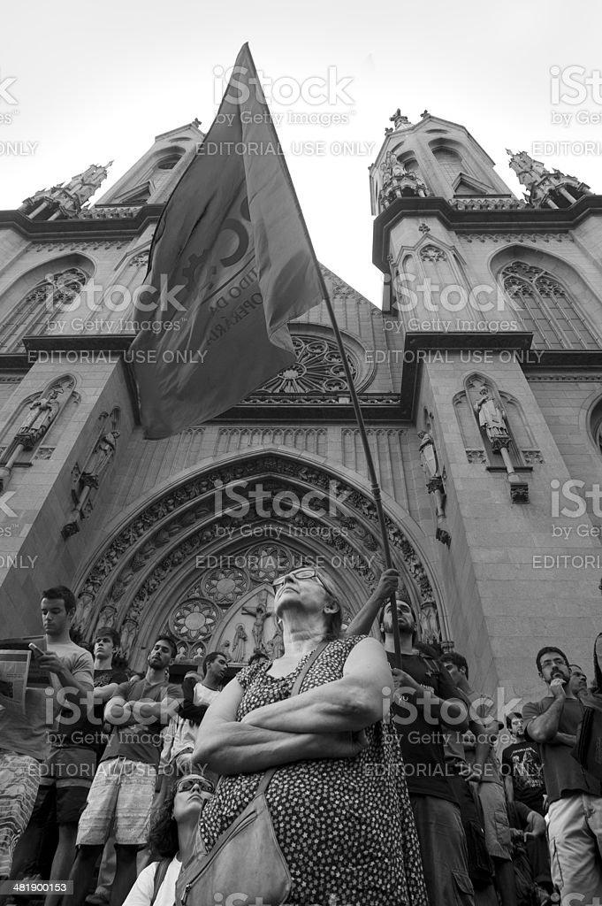 Antifascist demonstration royalty-free stock photo