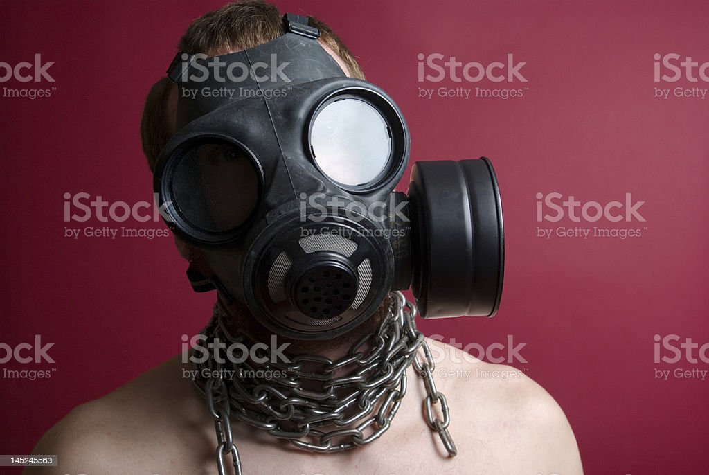 Anti-gas mask with chains royalty-free stock photo