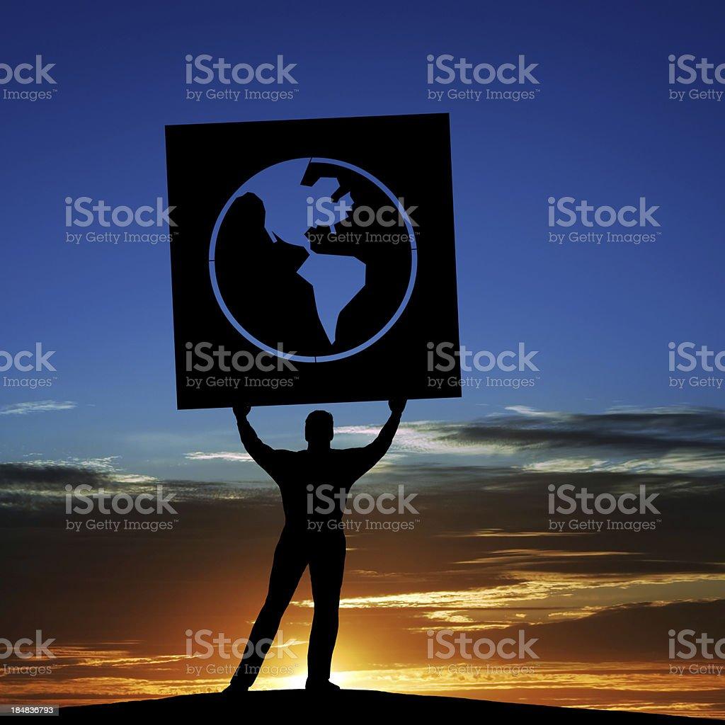 XXXL anti-globalization activist stock photo