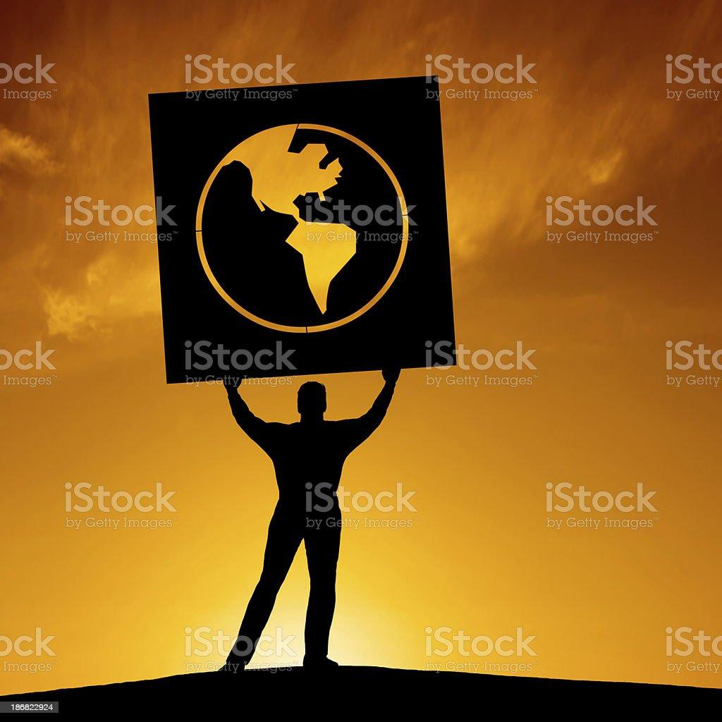 XXXL anti-globalization activist royalty-free stock photo