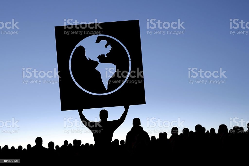 XXXL anti-globalization protestors royalty-free stock photo