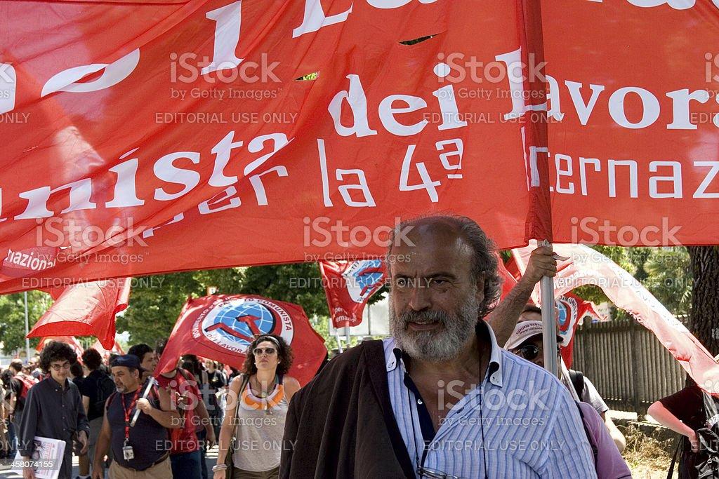 Anti-globalization protests stock photo